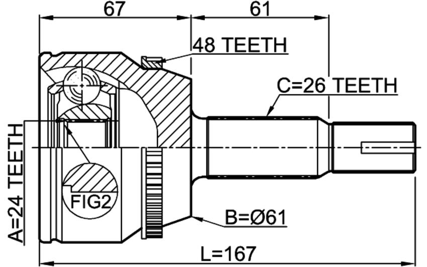 Online Automotive OLACV372AN C.V Joint