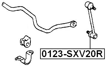 Suspension Stabilizer Bar Link Kit Rear fits 92-96 Toyota Camry OEM 48830-3301