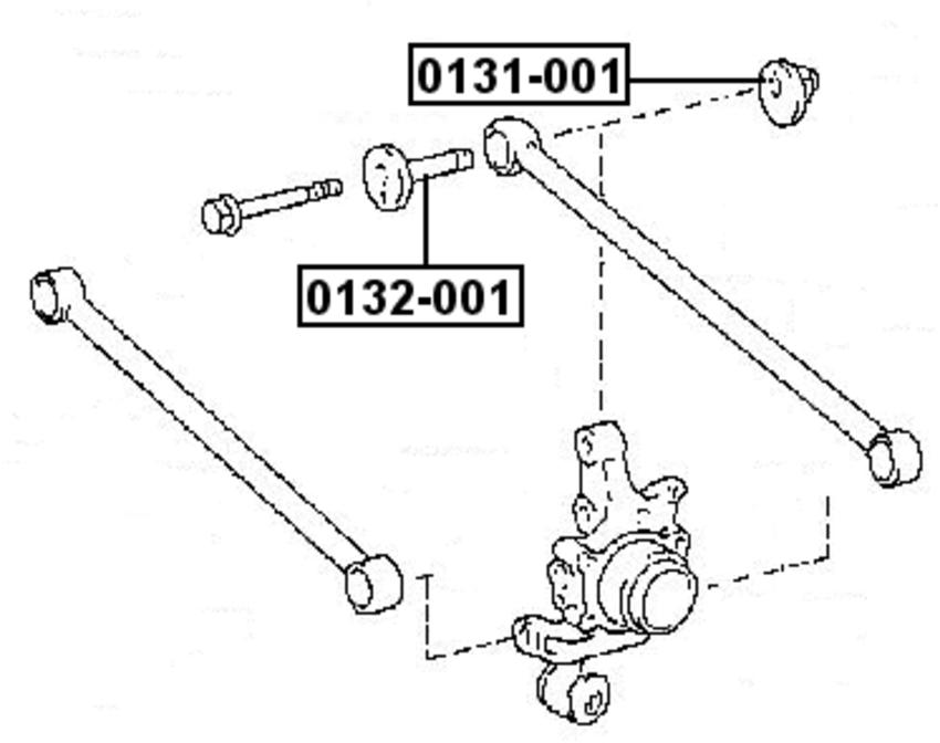 Alignment Caster//Camber Cam Bolt Kit Febest fits 06-07 Toyota Highlander