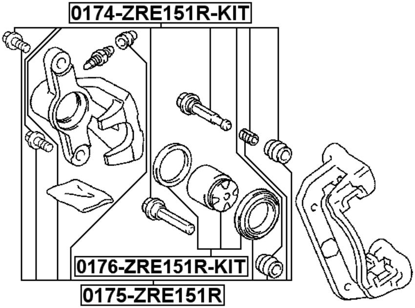 Pin Slide Febest 0174 Zre151r Kit 4056111067087