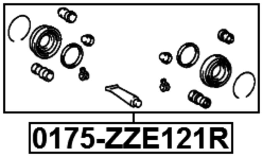 0175-ZZE121R REAR BRAKE CALIPER REPAIR KIT Febest