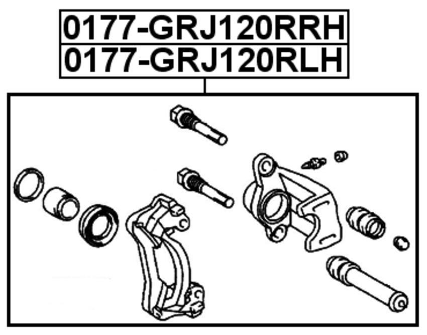 For Toyota Land CRUISER PRADO 120 2002 OEM 47750-34030 REAR LEFT BRAKE SUPPORT