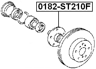 Front Wheel Hub FEBEST 0182-ST210F OEM 43502-05010