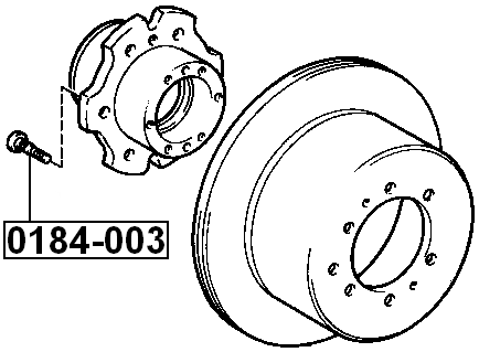 Details about Wheel Bolt Stud Lug FEBEST 0184-003 OEM 90942-02052