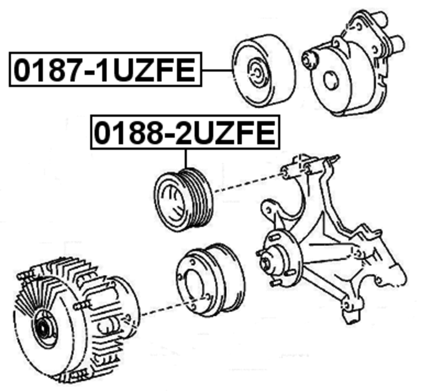 Engine Timing Idler Pulley Uck41 Automatic 2uzfe For 2006 Toyota