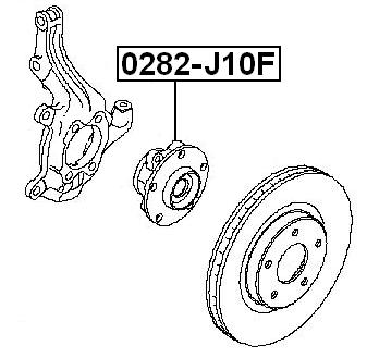 0282-J10F Febest FRONT WHEEL HUB