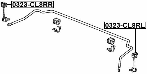 1x blue print stabilisateur link-adh28507