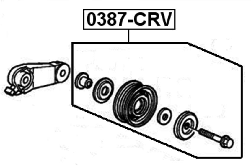 1995 civic belt diagram ac drive belt idler pulley   eg2 b16a3   for 1995 honda civic del  ac drive belt idler pulley   eg2 b16a3
