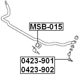 Febest Front Stabilizer Link 4056A050 Sway Bar Link For Mitsubishi