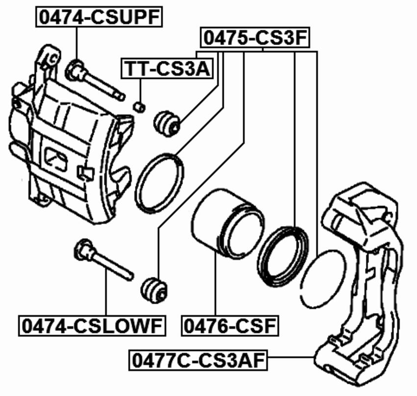 2003 Mitsubishi Outlander Parts Catalog