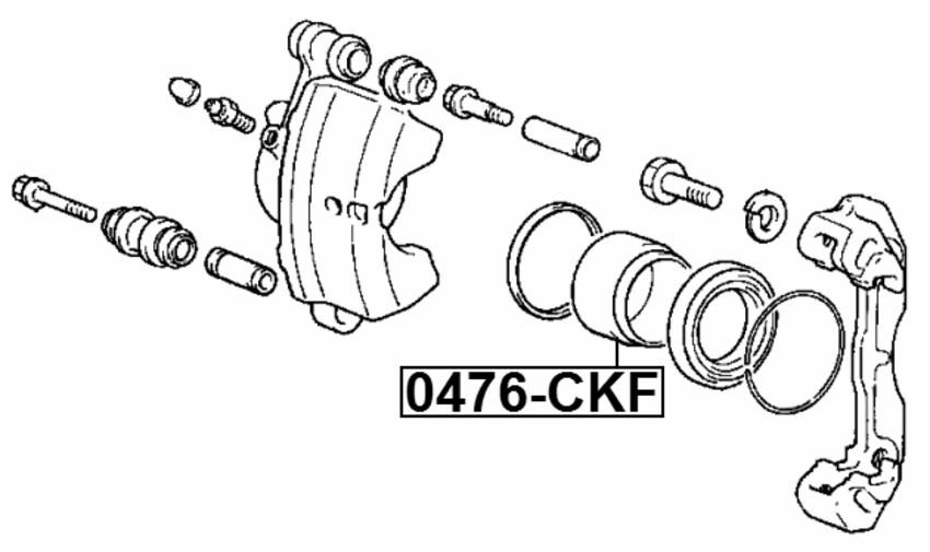 Disc Brake Caliper Piston Febest 0476 Ckf Fits 93 00 Mitsubishi