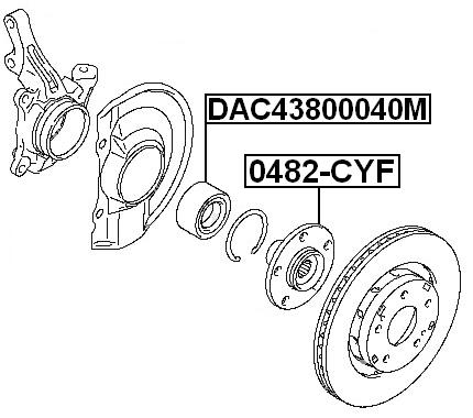 Wheel Hub Front Febest 0482 Cyf Fits 11 12 Mitsubishi Outlander
