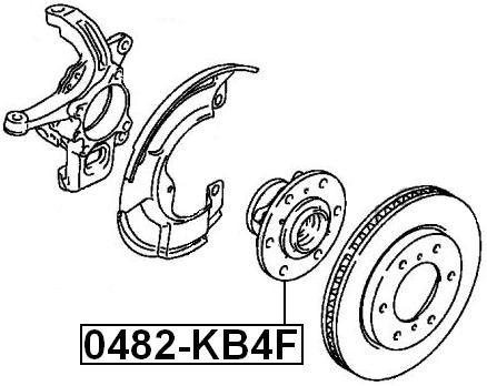 Front Wheel Hub For Mitsubishi L200 Kb4T 4Wd 2005-2015