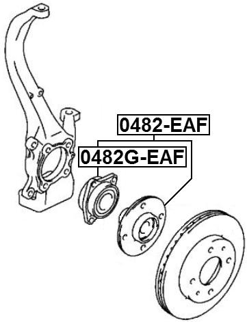Febest Front Wheel Hub Mr334386 Mr369518 Mr369519