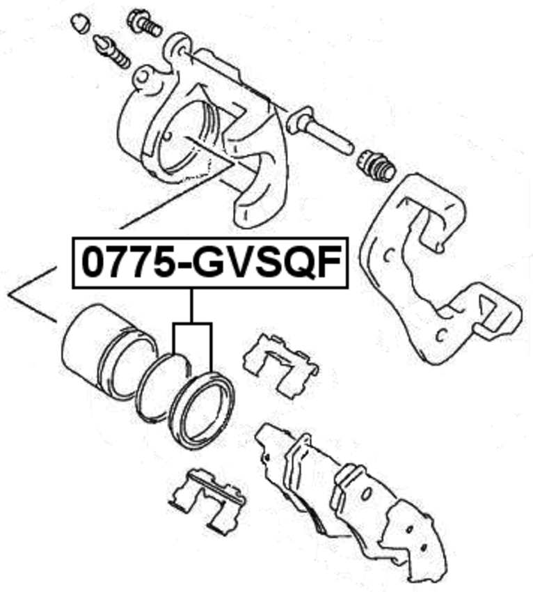Brake Cylinder Caliper Repair Kit Febest 0775 Gvsqf Oem 55830 64g00