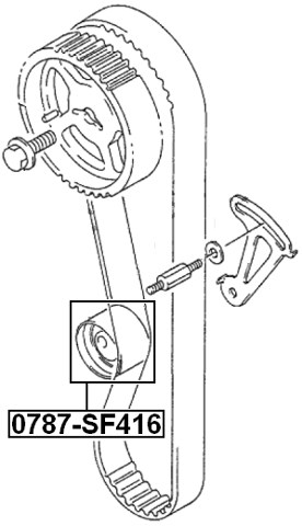 engine timing idler pulley for 1996 suzuki sidekick jx  usa