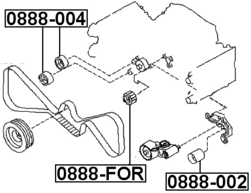 Pulley Idler Timing Belt For Subaru Impreza G11 2000 2007 Oem 13085