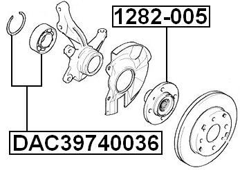 Wheel Hub Front Febest 1282-005 fits 04-09 Kia Spectra