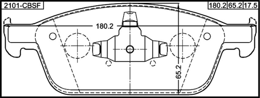 Disc Brake Front Febest 2101-CBSF Oem 1775091 Pad Kit