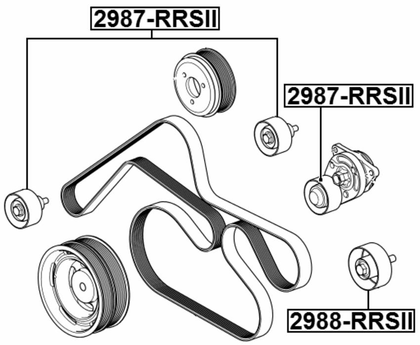 Febest Pulley Idler Kit 2988-RRIV Oem LR025083