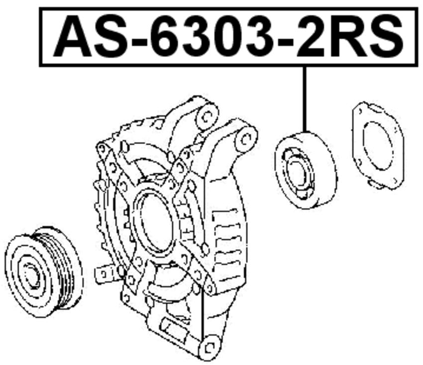 Ball Bearing 17X47X14 For Honda Element Yh2 2003 2011 262917997678