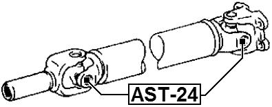 Toyota Universal Joint 22.06X57.5 Oem 37100-42060 Febest