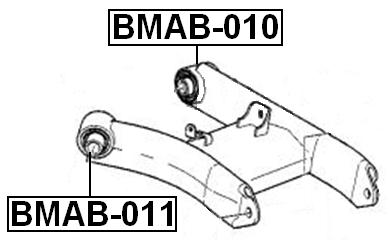 Arm Bushing Rear Lower Arm FEBEST BMAB-010 OEM 33326755472