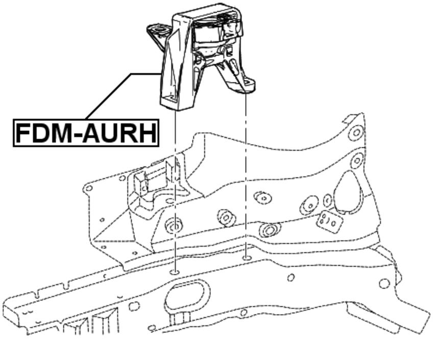 Hydro FEBEST FDM-AURH OEM 3S4Z-6038-BA Right Engine Motor Mount