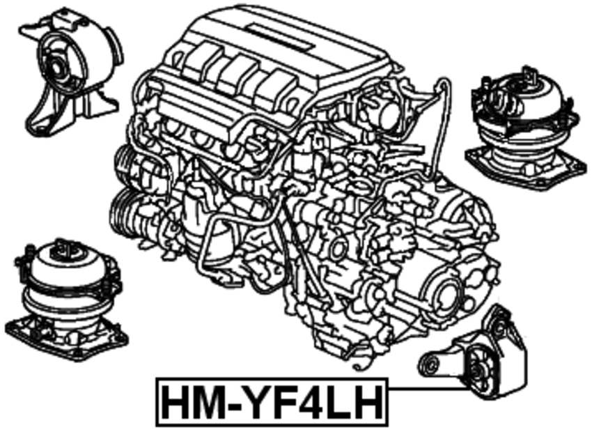 Left Engine Motor Mount Febest # HM-YF4LH
