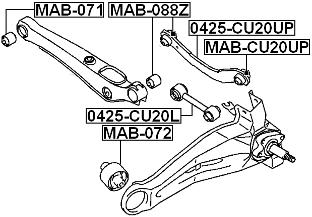 2001 mitsubishi galant rear suspension