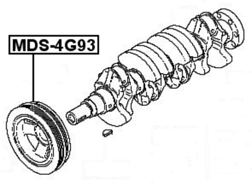 Harmonic Balancer Crankshaft Pulley  CJ2A  For 2000 Mitsubishi Mirage CAN