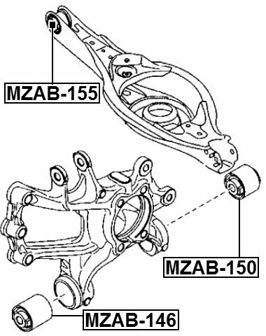 arm bushing rear lower arm febest mzab 155 oem kd35 28 350 ebay G Bar Rear Suspension arm bushing rear lower arm