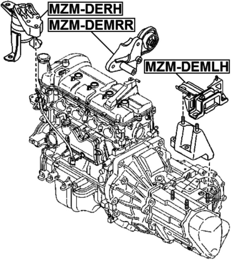 Engine Mount Left Febest Mzm Demlh Fits 11 13 Mazda 2 For Sale