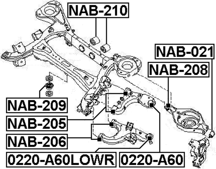 Suspension Subframe Bushing For 2005 Nissan Pathfinder Usa