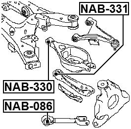 arm bushing for rear arm febest nab 330 oem 551b0 1ba0a ebay Trailblazer Rear Suspension arm bushing for rear arm