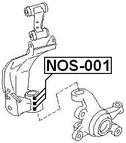 front arm bearing seal kit 3 pcs febest nos 001 oem 54593 90j26 ebay NOS Nitrous Kit front arm bearing seal kit 3 pcs