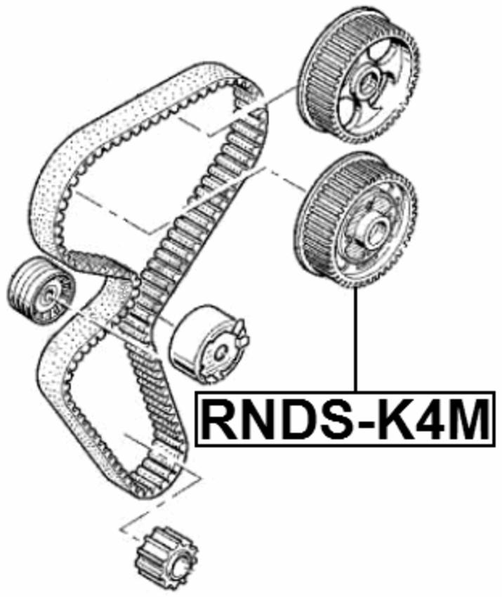 Crankshaft Pulley K4M Febest RNDS-K4M Oem 7701478505