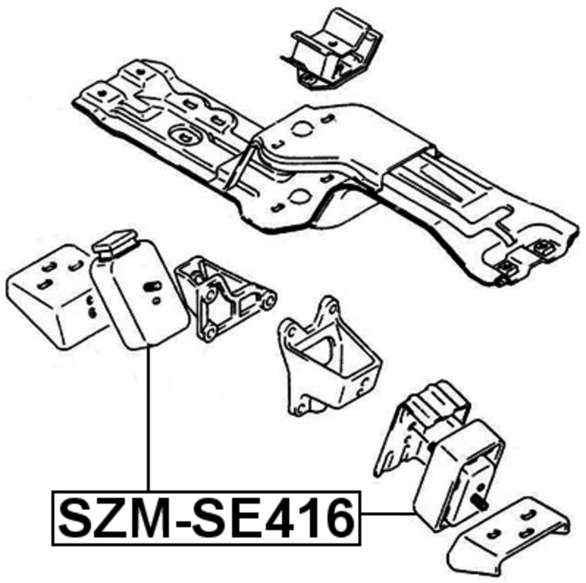 Engine Torque Damper Febest Szm Se416 Fits 90 98 Suzuki Sidekick 1 6