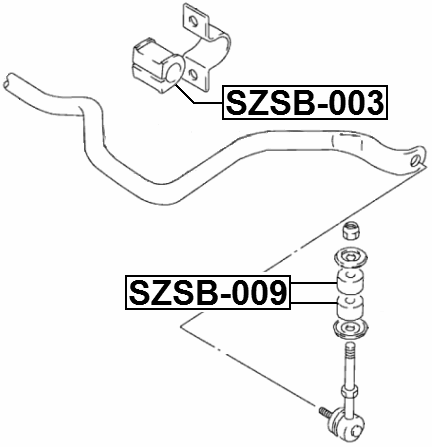 Front Stabilizer Sway Bar Bushing D21 Febest Szsb 003