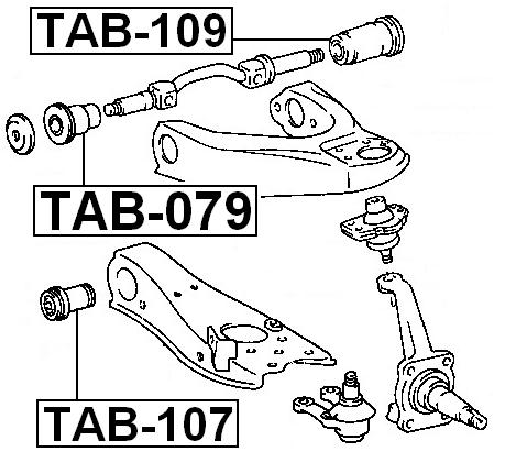 Rear Arm Bushing Front Upper Arm Febest Tab 109 Oem 48635 26010