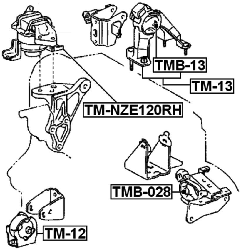 Right Engine Mount Hydro For Toyota Corolla Spacio Nze121zze122