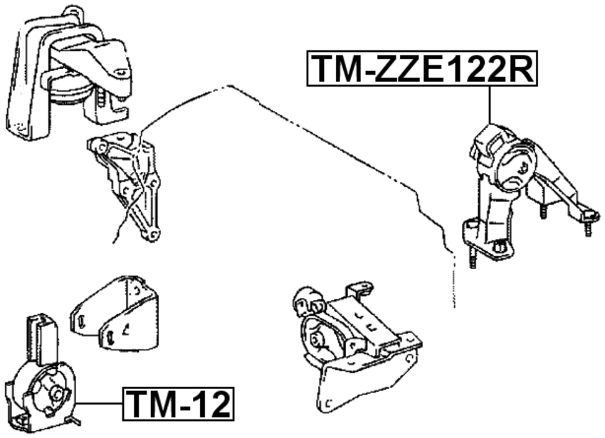 [SCHEMATICS_48ZD]  Rear Engine Mount For Toyota Corolla Nze12# 2000-2008 Car & Truck Motor  Mounts Auto Parts and Vehicles tamerindsa.com.ar | 2007 Toyota Corolla Engine Diagram |  | Tamer