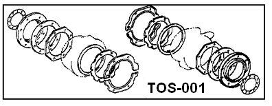 Wheel Seal Kit Front Febest TOS-001
