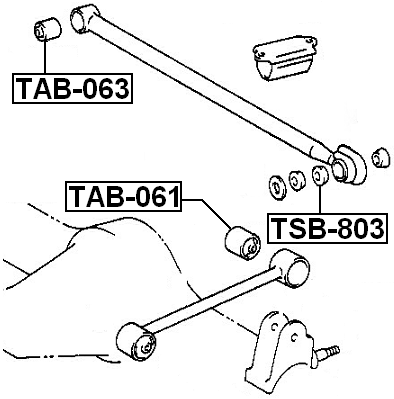 Bushing Rear Lateral Control Rod