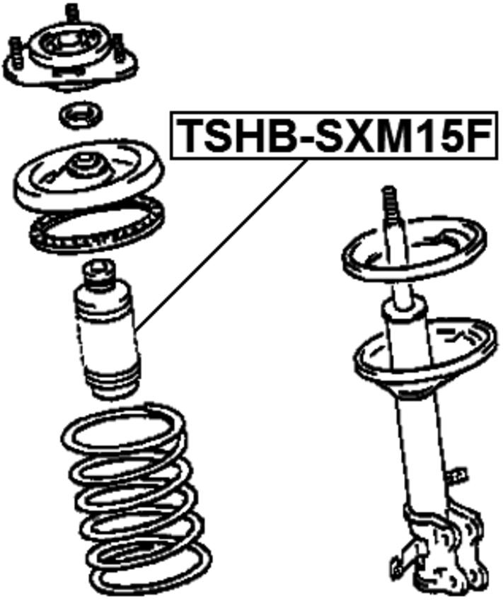 Front Shock Absorber Strut Boot Bellow Febest # TSHB-SXM15F
