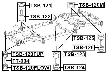 TT-004 Genuine Febest Collar For Front Suspension Lower Arm 90440-18011
