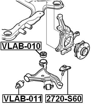 FEBEST VLAB-010 Front Suspension Arm Bushing